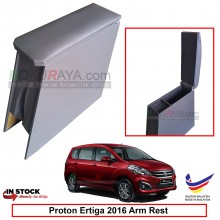 Proton Ertiga 2016 4' Plywood PVC Armrest Center Console Box (Grey)